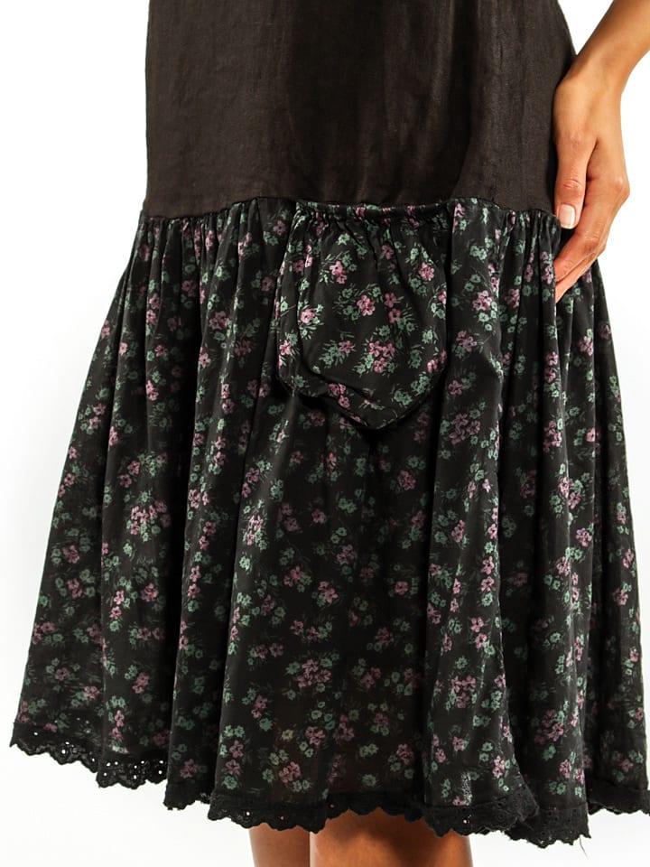 """Naturelle en lin Leinen-Kleid """"York"""" in Schwarz"""