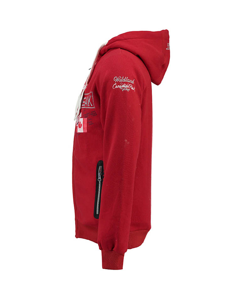 "Canadian Peak Sweatjacke ""Gamilton"" in Rot"