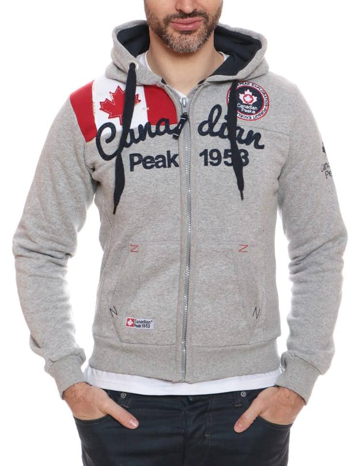 "Canadian Peak Sweatjacke ""Gailor"" in Hellgrau"