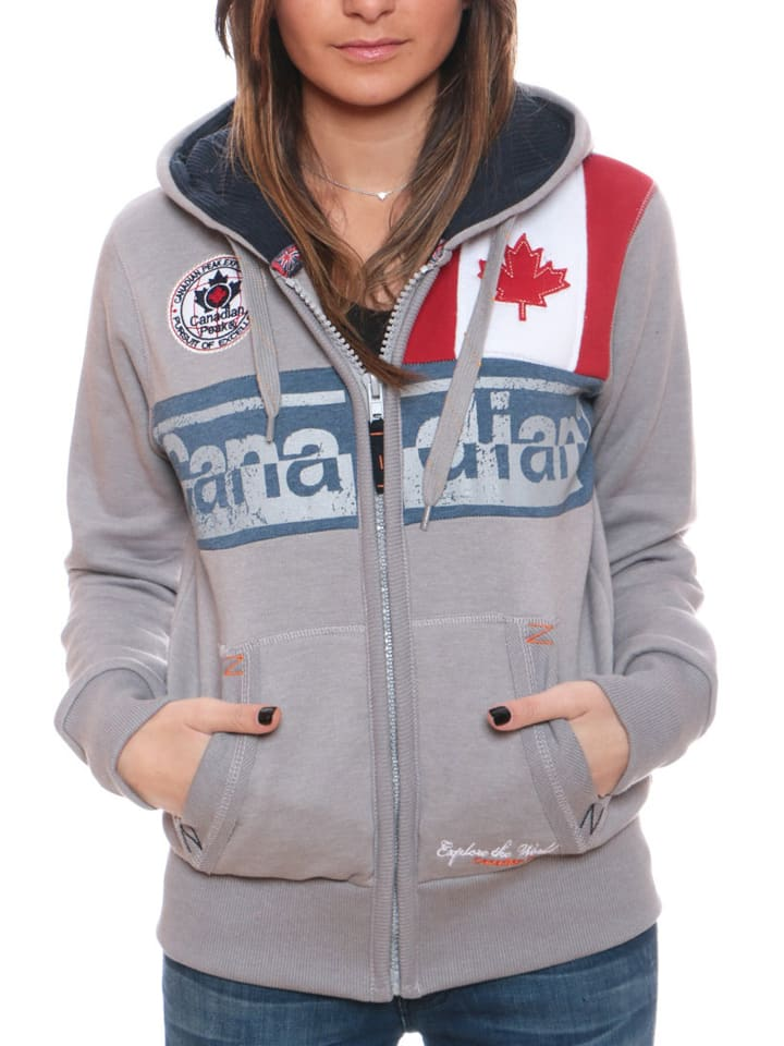 "Canadian Peak Sweatjacke ""Flashy"" in Hellgrau"