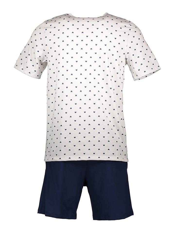 Skiny Pyjama in Hellgrau/ Dunkelblau