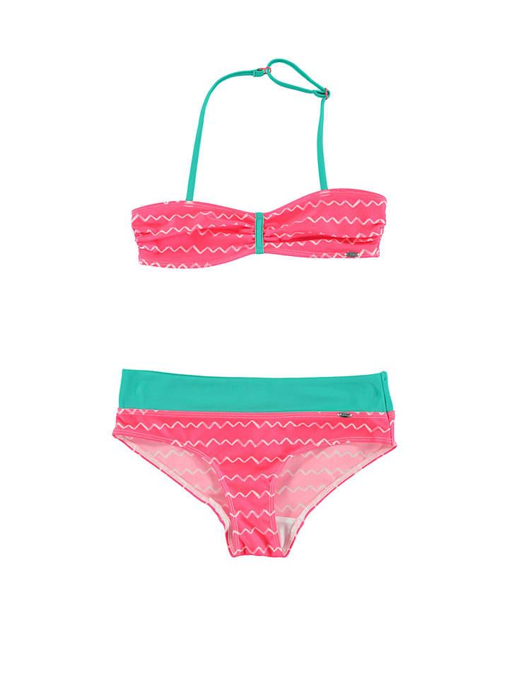 Skiny Bikini in Neonrot/ Grün
