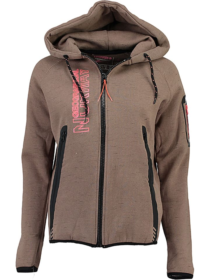 """Geographical Norway Sweatjacke """"Getincelle"""" in Taupe"""