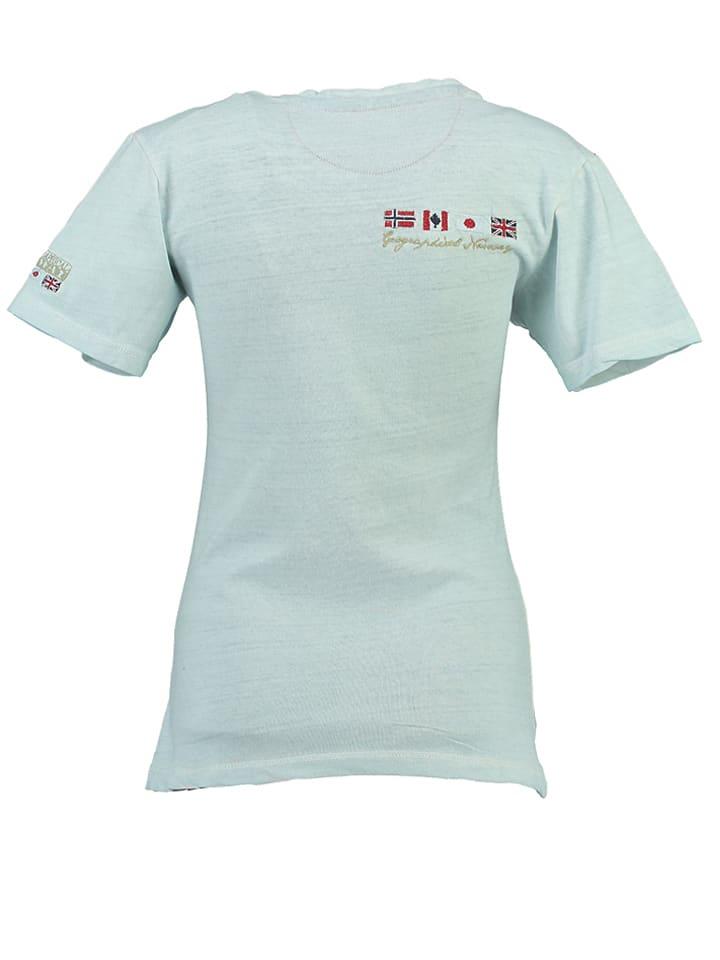 """Geographical Norway Shirt """"Jasmine"""" in Hellblau"""