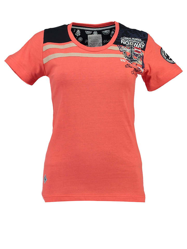 "Geographical Norway Shirt ""Jemeraude"" in Koralle"