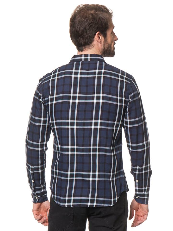 """Lee Jeans Hemd """"Western"""" in Dunkelblau/ Hellgrau"""