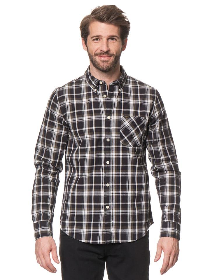 """Lee Jeans Hemd """"Button Down"""" in Khaki/ Schwarz"""