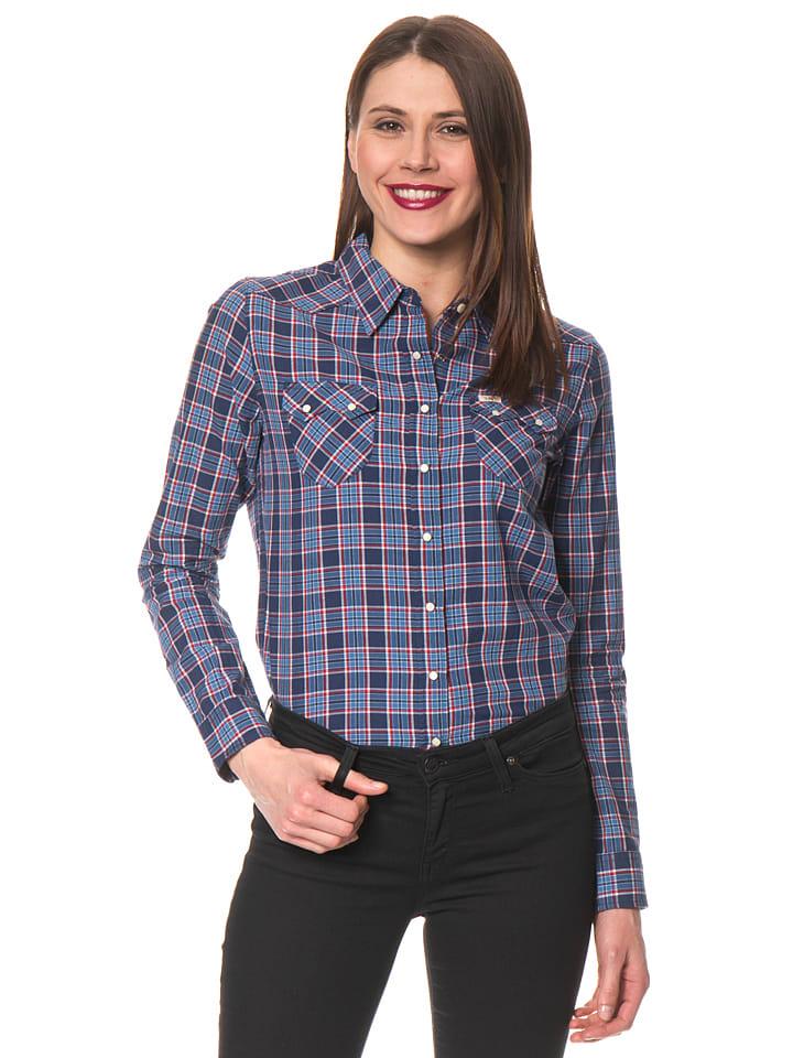 """Lee Jeans Bluse """"Western"""" in Blau/ Hellblau"""