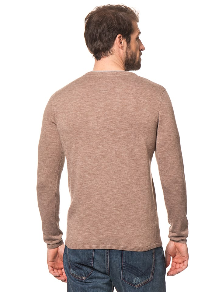 Tom Tailor Pullover in Taupe