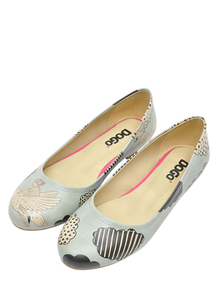 "Dogo Ballerinas ""Above The Clouds"" in Hellblau/ Schwarz"