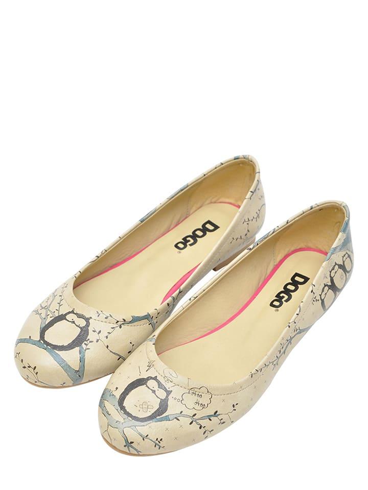 """Dogo Ballerinas """"Owl"""" in Beige/ Bunt"""
