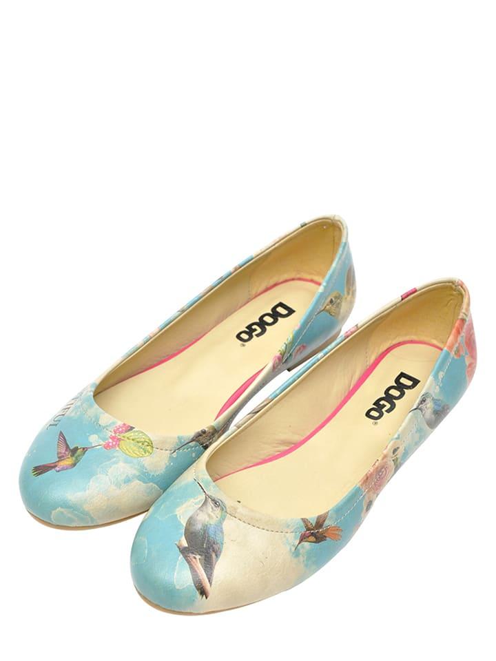 "Dogo Ballerinas ""Fly Away"" in Hellblau/ Bunt"