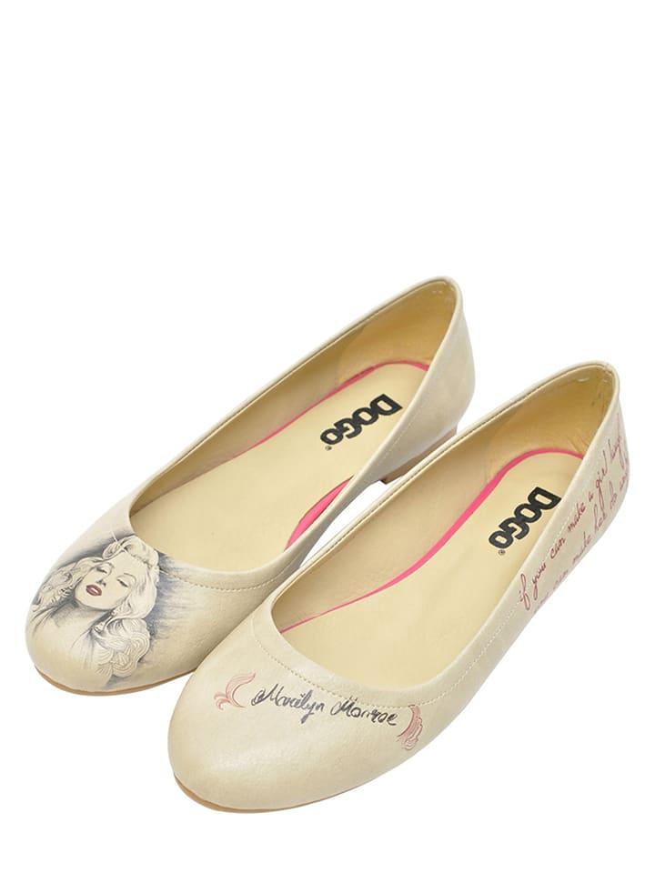 "Dogo Ballerinas ""Marilyn Monroe"" in Beige"