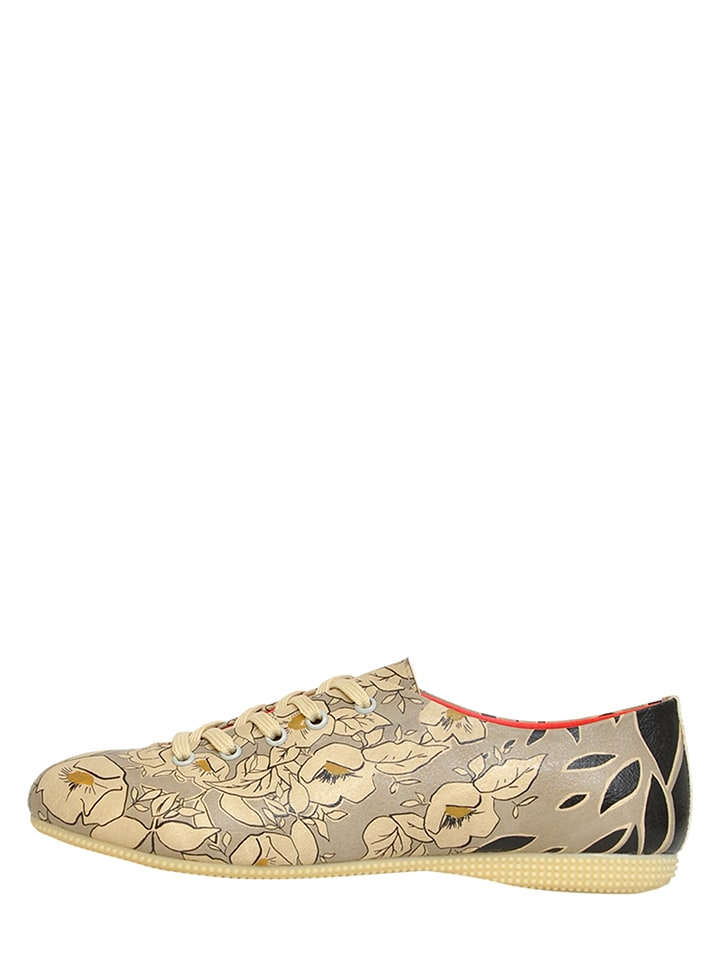 "Dogo Schnürschuhe ""Gold Is New Black"" in Grau/ Beige"