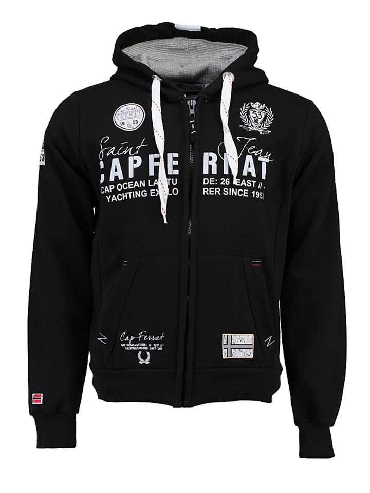 "Geographical Norway Sweatjacke ""Gapferat"" in Schwarz"