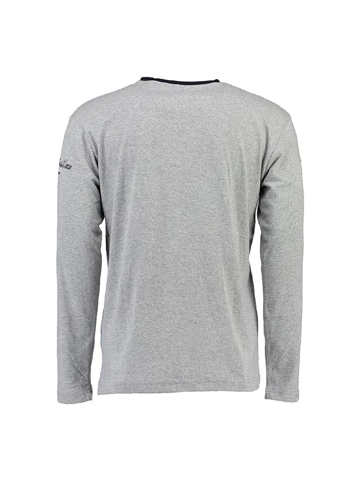 "Geographical Norway Longsleeve ""Jersozon"" in Grau"
