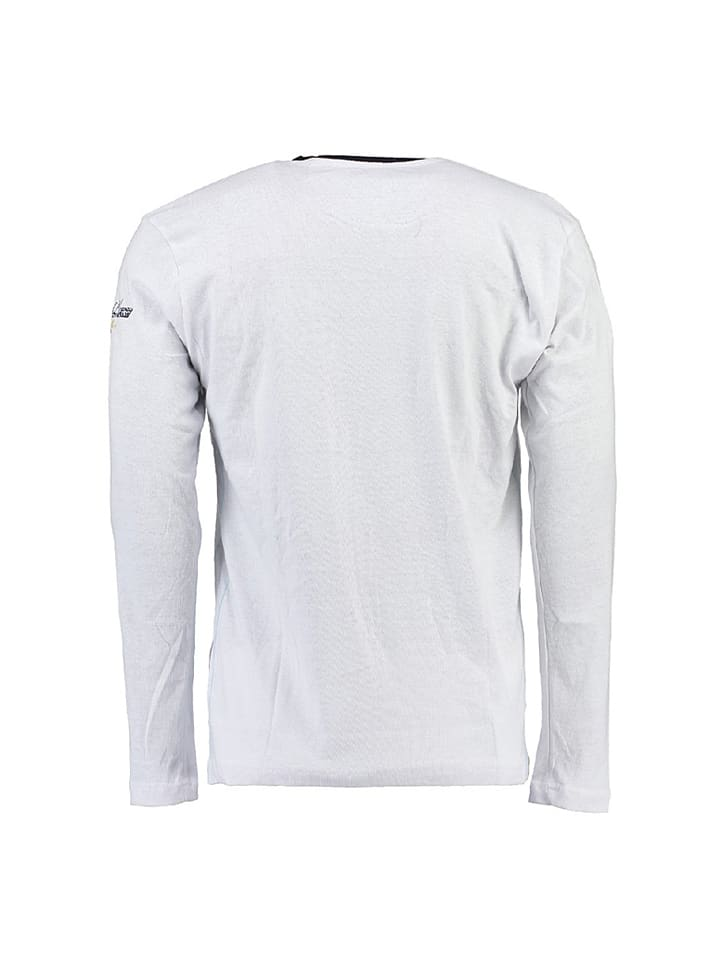"Geographical Norway Longsleeve ""Jersozon"" in Weiß"