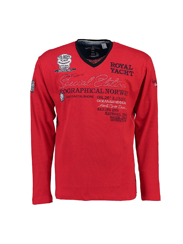 "Geographical Norway Longsleeve ""Jersozon"" in Rot"