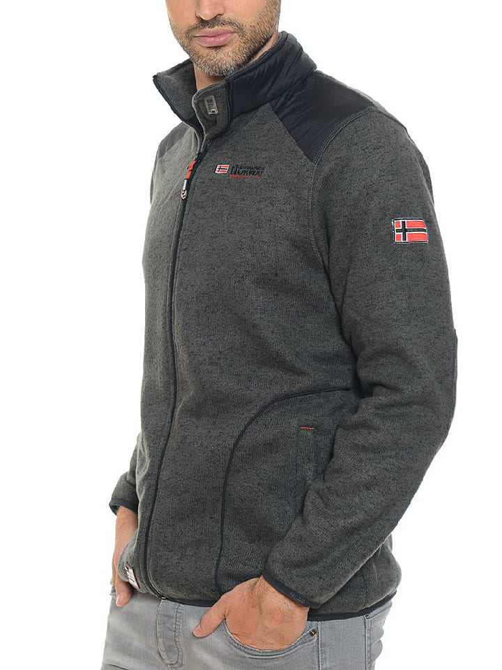 "Geographical Norway Fleecejacke ""Tuteur"" in Anthrazit"