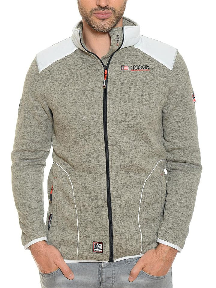 "Geographical Norway Fleecejacke ""Tuteur"" in Grau"