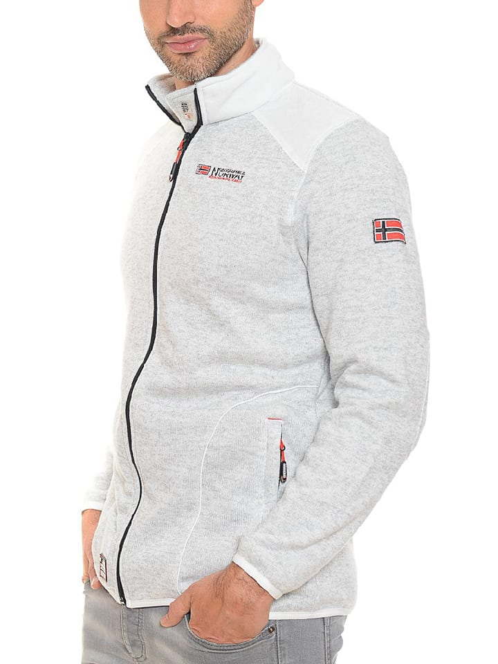 "Geographical Norway Fleecejacke ""Tuteur"" in Weiß"