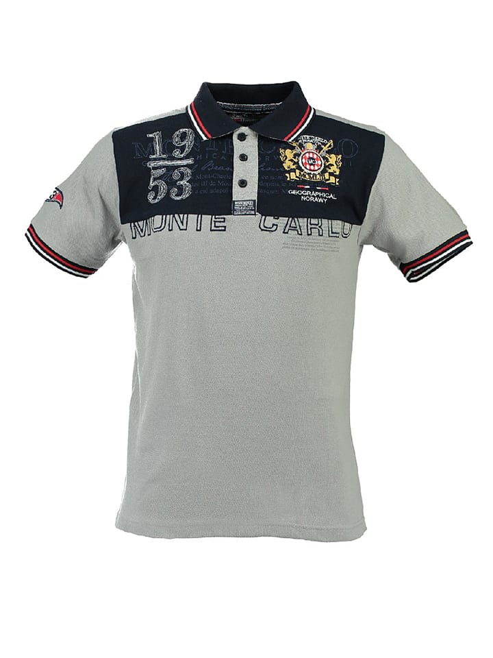 "Geographical Norway Poloshirt ""Kavalere"" in Grau"