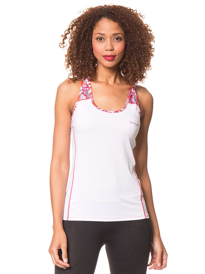 Desigual Sport Top in Weiß