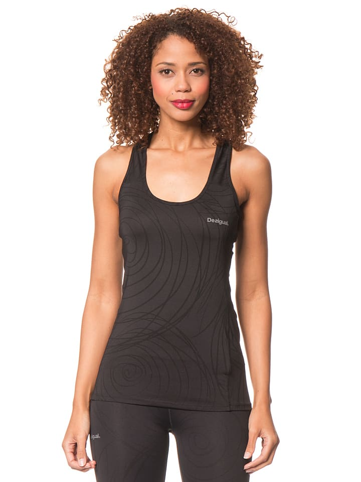 Desigual Sport Top in Schwarz