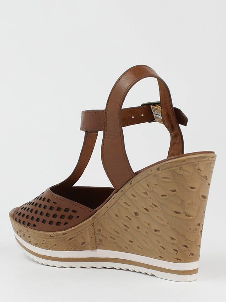 CARMELA Leder-Sandaletten in Braun