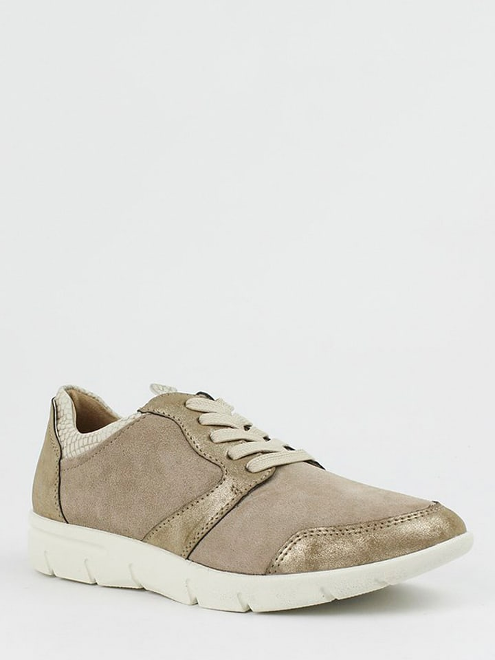 CARMELA Leder-Sneakers in Taupe - 58% sutC8mp