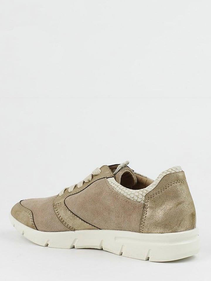 CARMELA Leder-Sneakers in Taupe