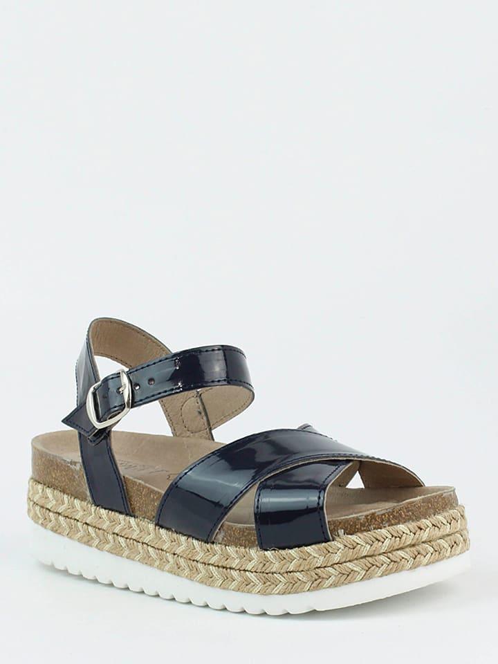 CARMELA Leder-Sandaletten in Dunkelblau
