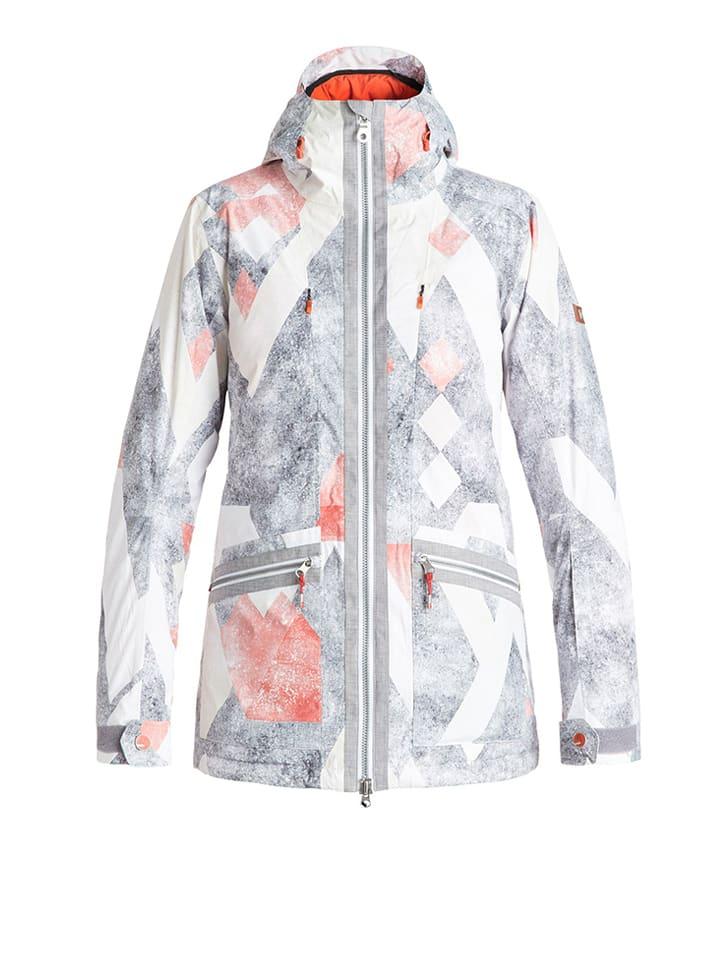 """Roxy Kurtka narciarska """"Ascend"""" w kolorze biało-jasnoszarym"""