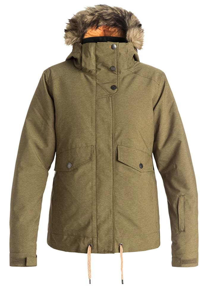 "Roxy Winterjacke ""Grove"" in Khaki"