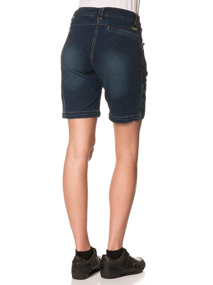 CMP Shorts in Dunkelblau/ Grün