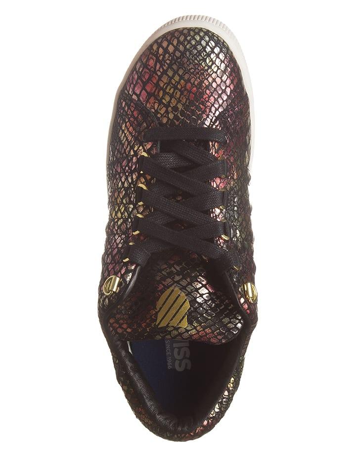 """K-SWISS Leder-Sneakers """"Lozan III"""" in Schwarz/ Bunt"""