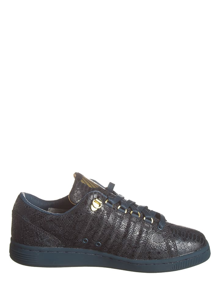 """K-SWISS Leder-Sneakers """"Lozan III"""" in Dunkelblau/ Gold"""