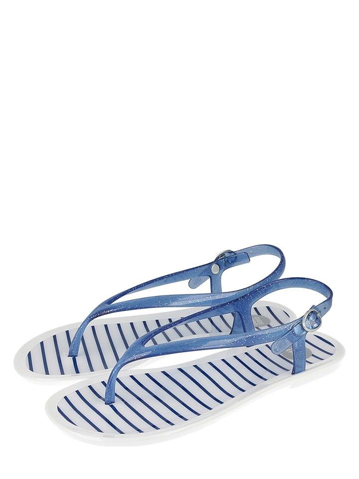 "Gioseppo Zehentrenner ""Sassari"" in Blau/ Weiß"