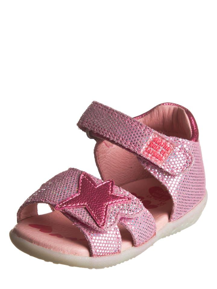 Agatha Ruiz de la Prada Skórzane sandały w kolorze jasnoróżowym