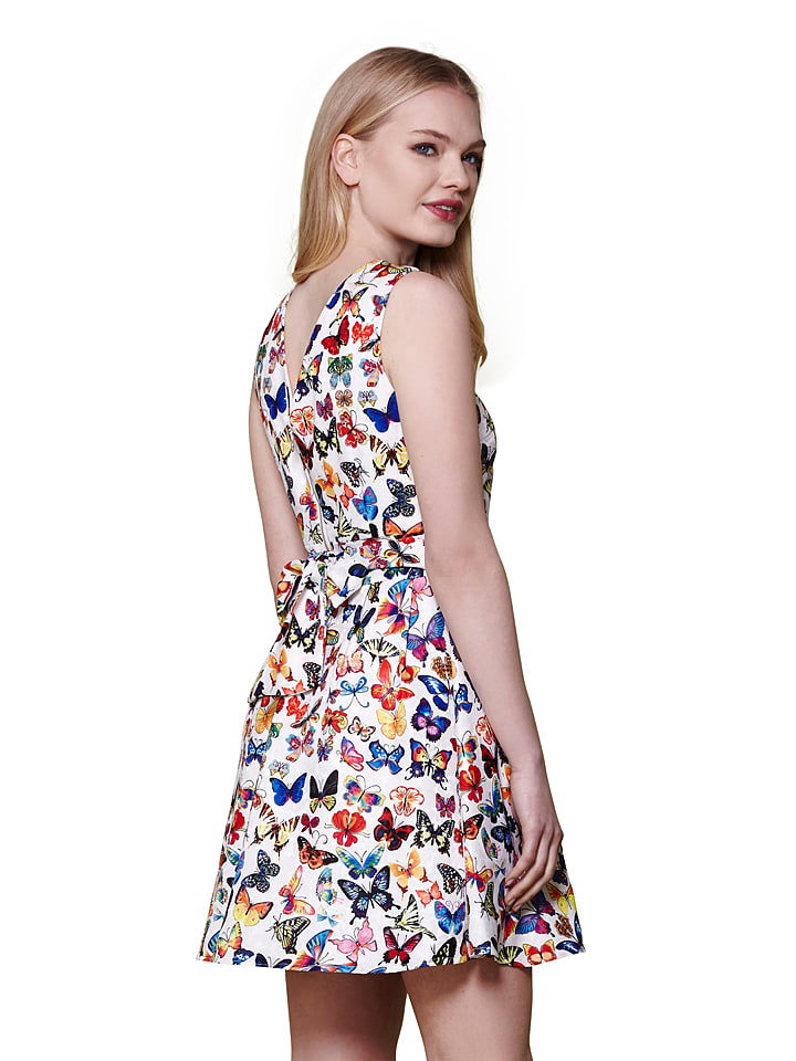 Yumi Kleid in Weiß/ Bunt