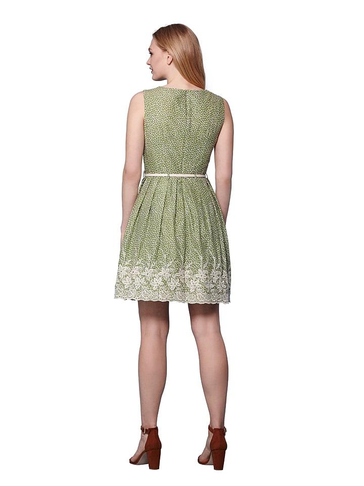 Yumi Kleid in Hellgrün/ Weiß