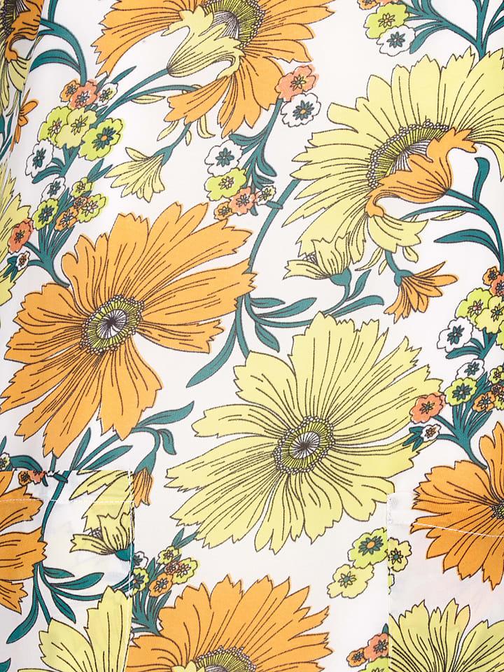 Yumi Kleid in Weiß/ Gelb
