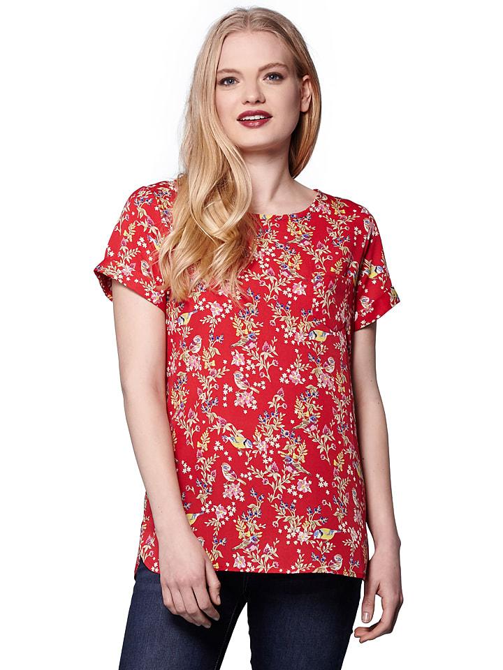 Yumi Shirt in Rot/ Bunt