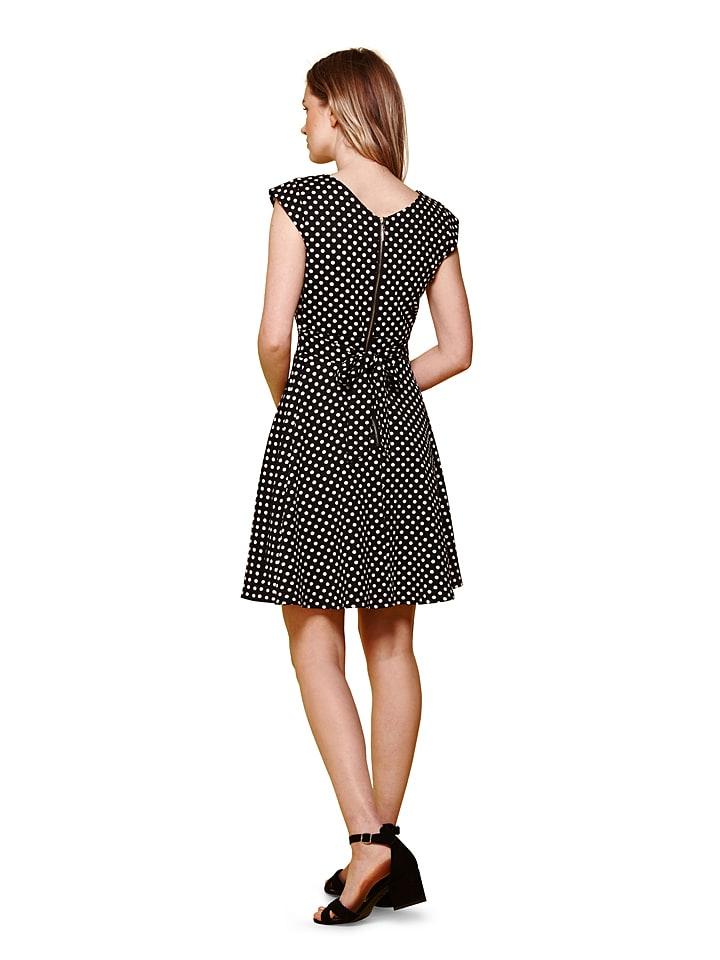 Yumi Kleid in Schwarz/ Weiß