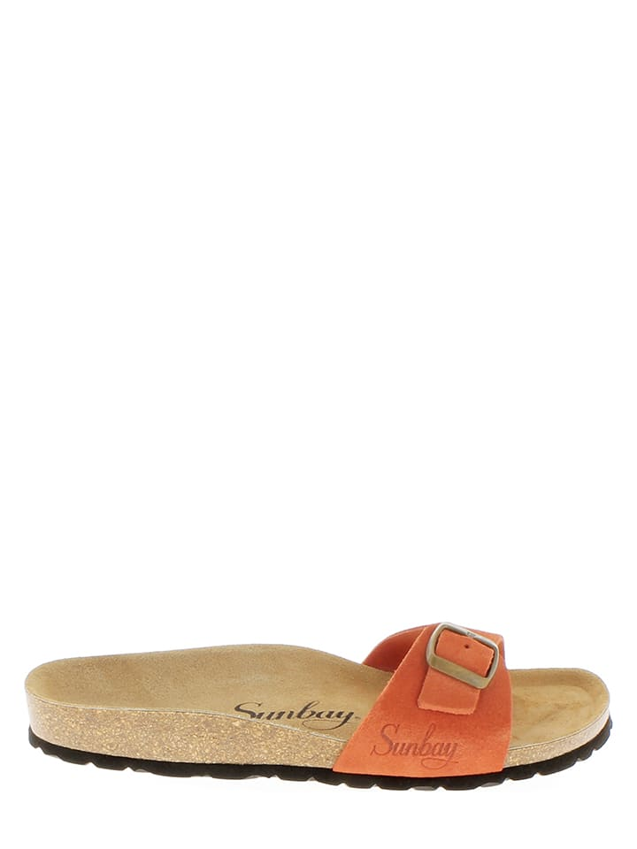 Sunbay Leder-Pantoletten in Orange