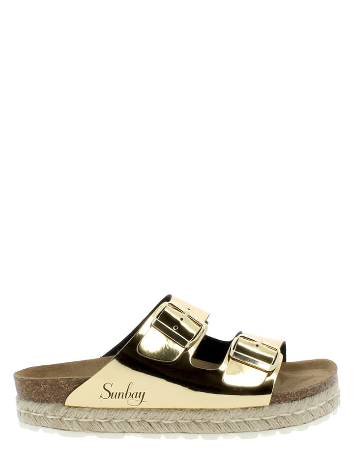 Sunbay Pantoletten in Gold