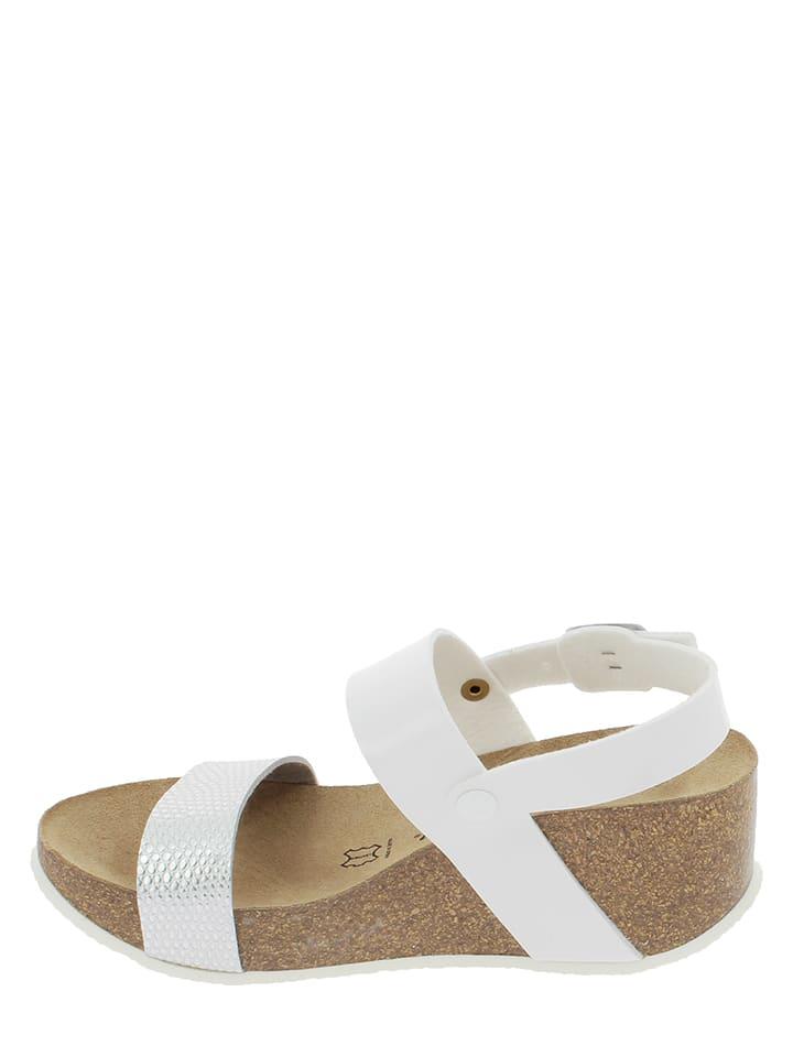 Sunbay Sandaletten in Weiß/ Silber