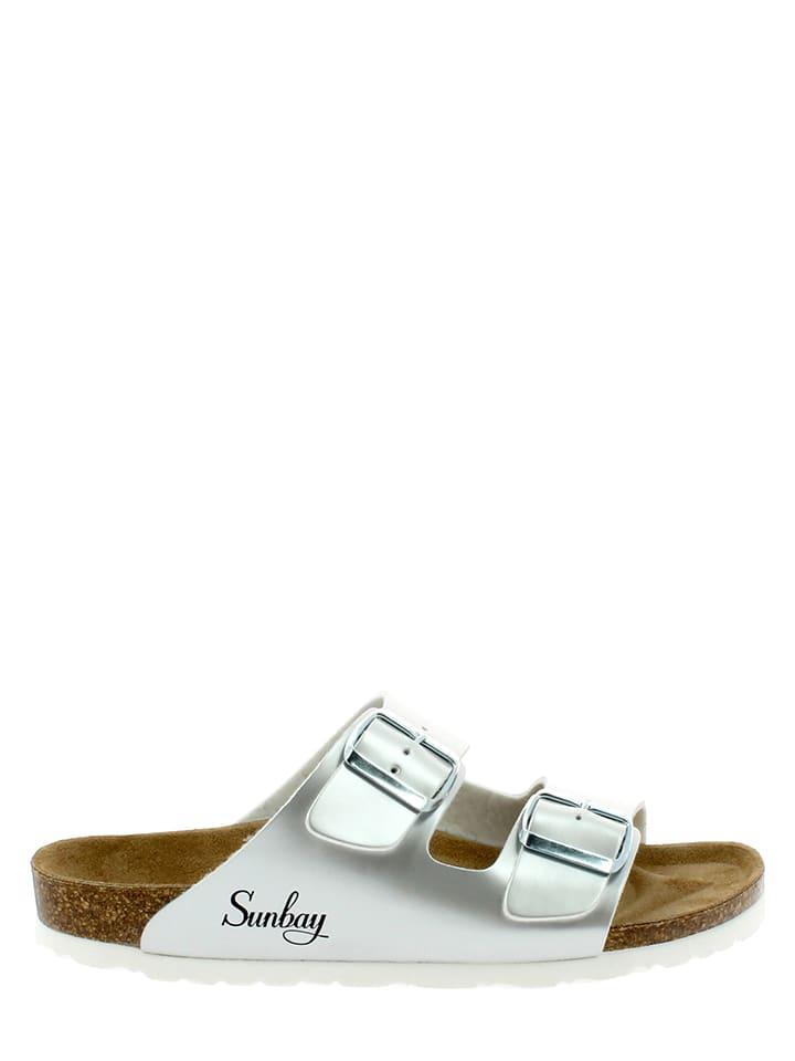 Sunbay Pantoletten in Silber