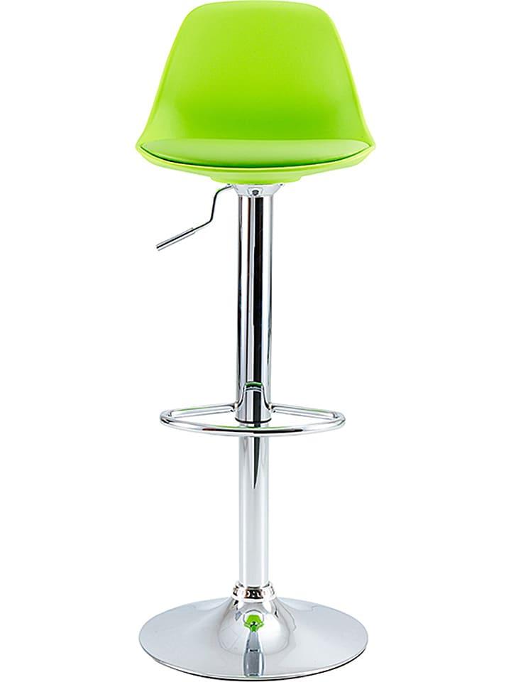 Studio Hocker w kolorze zielono-srebrnym - 46 x 102,5 x 43,5 cm
