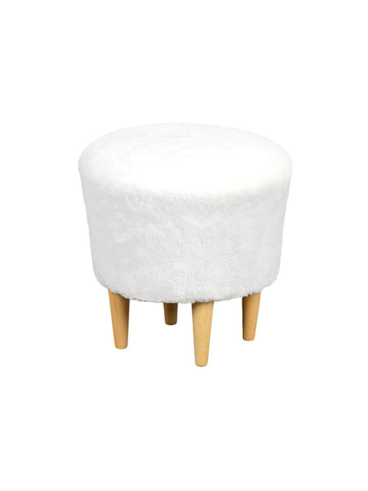 Pouf&Co Puf w kolorze białym  - Ø 41 cm